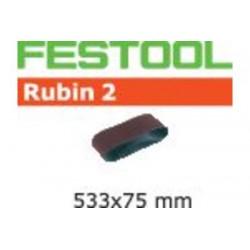 Bande abrasive L533X 75-P80 RU2/10 499157